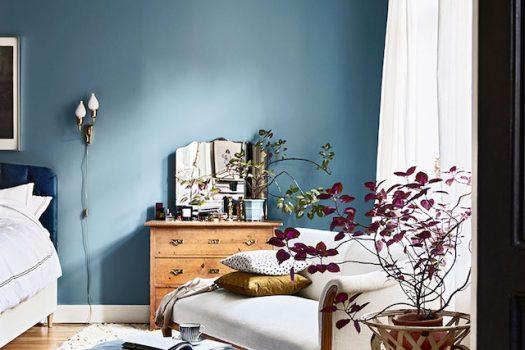 Azul para decoración de interiores